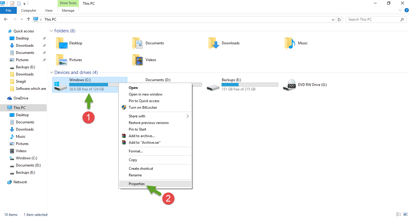 how to set up new disc drive windows 10