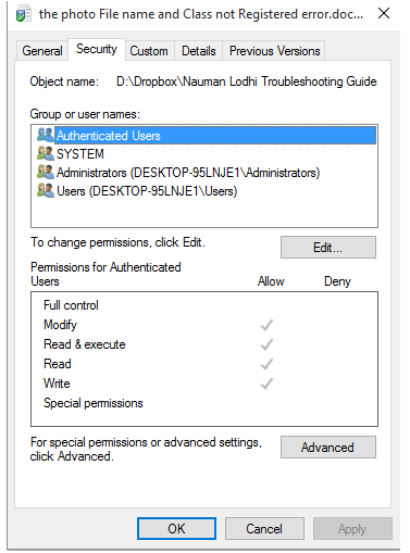 how to change permission in windows 7 for program files