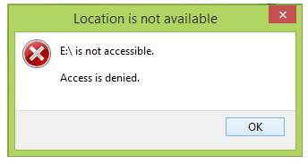 How to fix 'Location is Not Available' Error in Windows 7