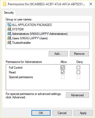 Windows 10 Event ID 10016